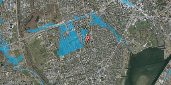 Oversvømmelsesrisiko fra vandløb på Berners Vænge 38A, 2650 Hvidovre
