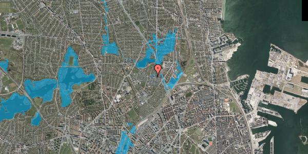 Oversvømmelsesrisiko fra vandløb på Emdrupvej 26C, 2100 København Ø