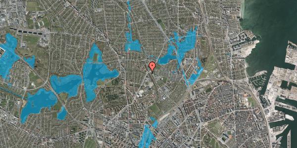 Oversvømmelsesrisiko fra vandløb på Hf. Bispevænget 38, 2400 København NV