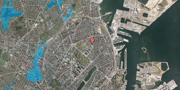 Oversvømmelsesrisiko fra vandløb på Østerfælled Torv 35, 2100 København Ø