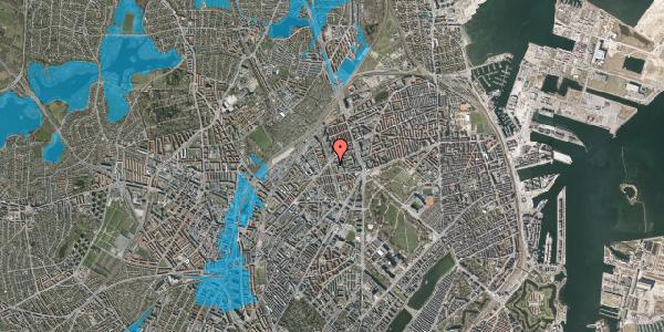 Oversvømmelsesrisiko fra vandløb på Lersø Parkallé 48, 2100 København Ø