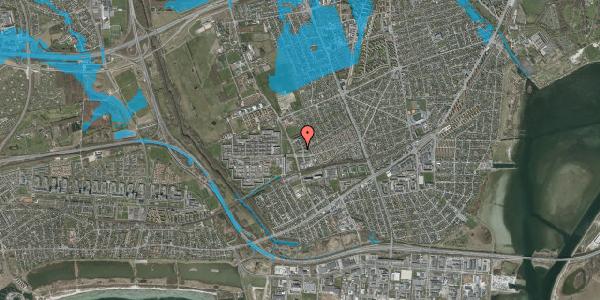 Oversvømmelsesrisiko fra vandløb på Mellemvangsvej 47, 2650 Hvidovre