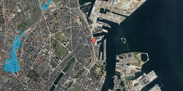 Oversvømmelsesrisiko fra vandløb på Østbanegade 89, st. , 2100 København Ø