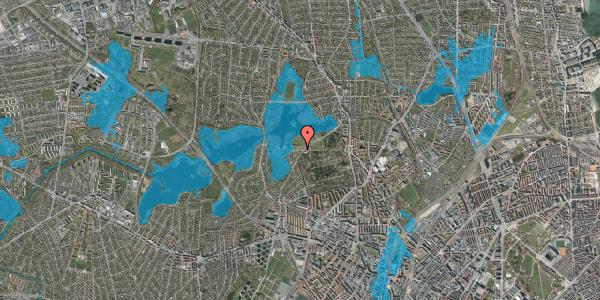 Oversvømmelsesrisiko fra vandløb på Mosesvinget 99, 2400 København NV