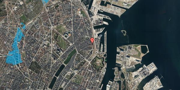 Oversvømmelsesrisiko fra vandløb på Classensgade 61, 5. th, 2100 København Ø