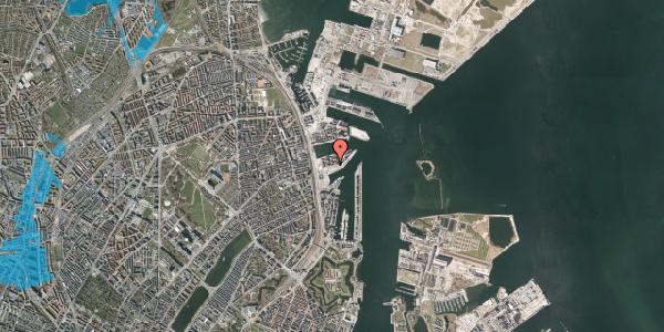 Oversvømmelsesrisiko fra vandløb på Marmorvej 19, 1. th, 2100 København Ø