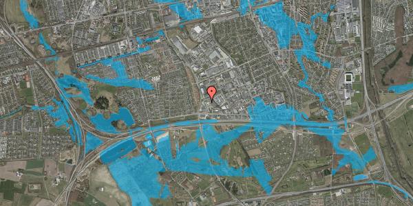 Oversvømmelsesrisiko fra vandløb på Jydekrogen 14A, 2625 Vallensbæk