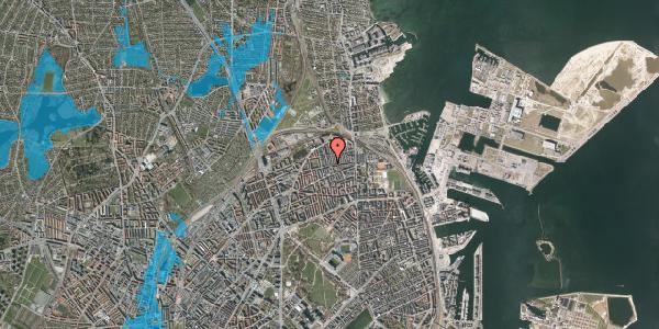 Oversvømmelsesrisiko fra vandløb på Landskronagade 50D, 2100 København Ø