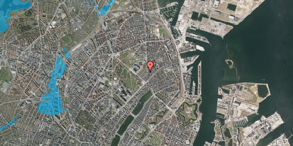 Oversvømmelsesrisiko fra vandløb på Østerbrogade 51B, 2100 København Ø