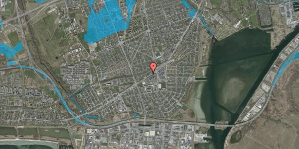 Oversvømmelsesrisiko fra vandløb på Gammel Køge Landevej 376C, 2650 Hvidovre