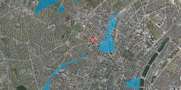 Oversvømmelsesrisiko fra vandløb på Jordbærvej 11, 2400 København NV