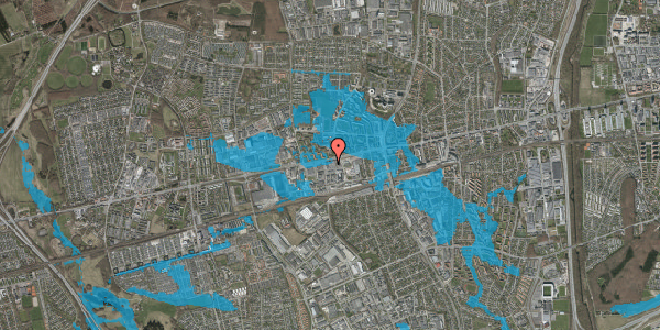 Oversvømmelsesrisiko fra vandløb på Hermods Allé 6A, 1. , 2600 Glostrup