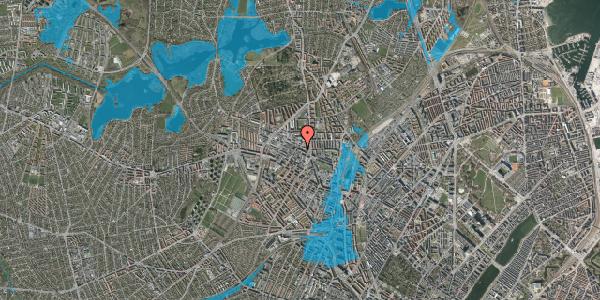 Oversvømmelsesrisiko fra vandløb på Rentemestervej 42B, 4. 2, 2400 København NV