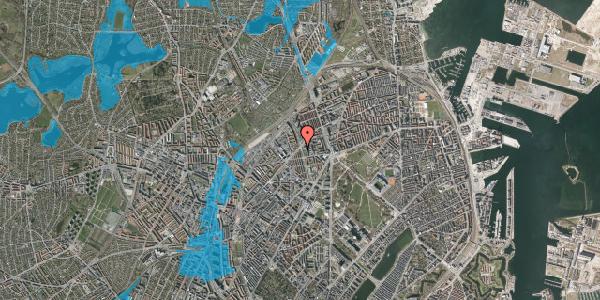 Oversvømmelsesrisiko fra vandløb på Lersø Parkallé 71, 2100 København Ø