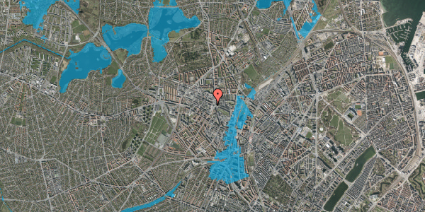 Oversvømmelsesrisiko fra vandløb på Glasvej 33, 3. th, 2400 København NV