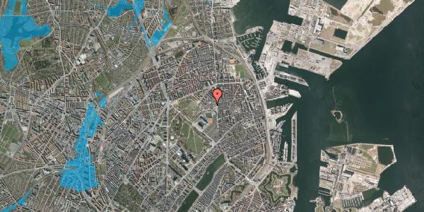 Oversvømmelsesrisiko fra vandløb på Østerfælled Torv 19, 2100 København Ø