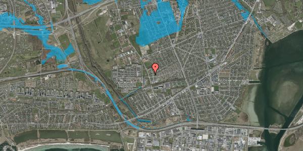Oversvømmelsesrisiko fra vandløb på Mellemvangsvej 13, 2650 Hvidovre