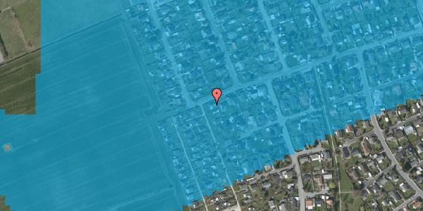 Oversvømmelsesrisiko fra vandløb på Hf. Dahlia 53, 2650 Hvidovre
