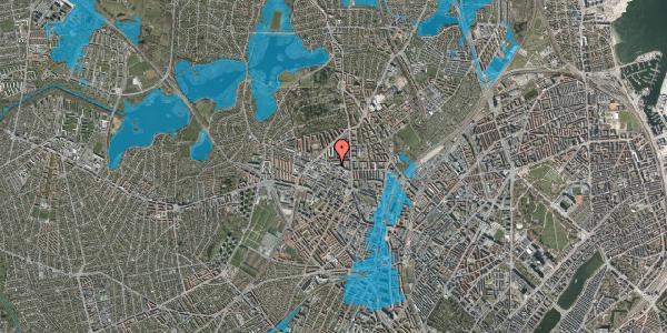 Oversvømmelsesrisiko fra vandløb på Dortheavej 2H, 2400 København NV
