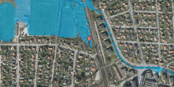 Oversvømmelsesrisiko fra vandløb på Rødhalsgangen 2, 2400 København NV