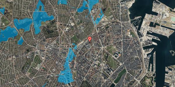 Oversvømmelsesrisiko fra vandløb på Emblasgade 91, 1. th, 2100 København Ø