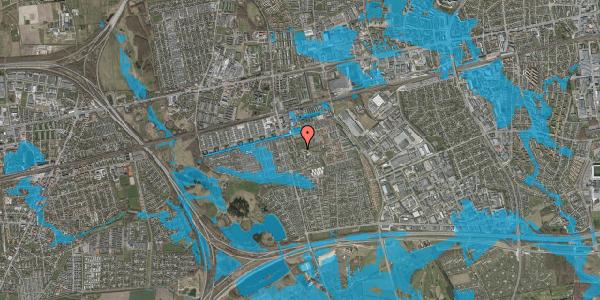 Oversvømmelsesrisiko fra vandløb på Løkkekrogen 33, 2625 Vallensbæk