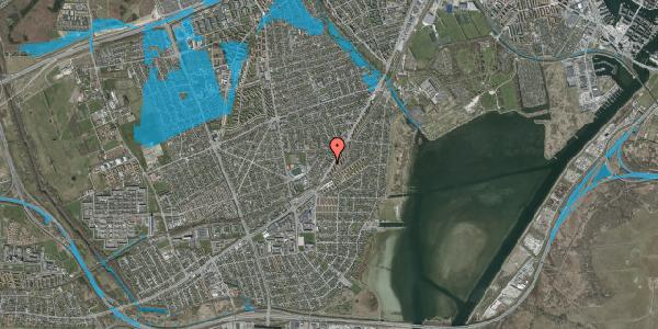 Oversvømmelsesrisiko fra vandløb på Gammel Køge Landevej 306C, 2650 Hvidovre