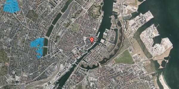Oversvømmelsesrisiko fra vandløb på Peder Skrams Gade 13, 1054 København K