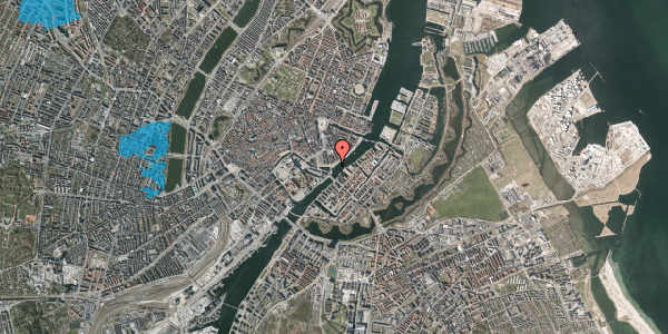 Oversvømmelsesrisiko fra vandløb på Havnegade 14, 1058 København K