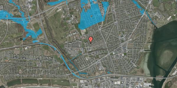 Oversvømmelsesrisiko fra vandløb på Mellemvangsvej 76, 2650 Hvidovre