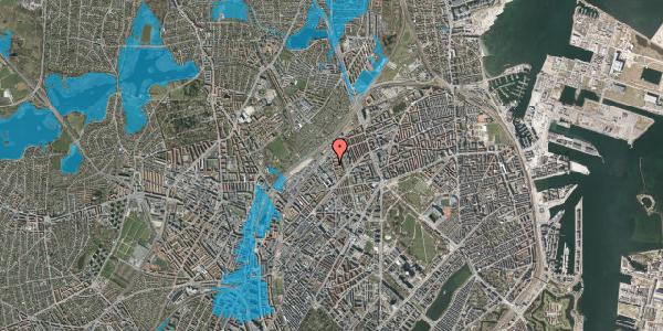 Oversvømmelsesrisiko fra vandløb på Emblasgade 123, 1. tv, 2100 København Ø