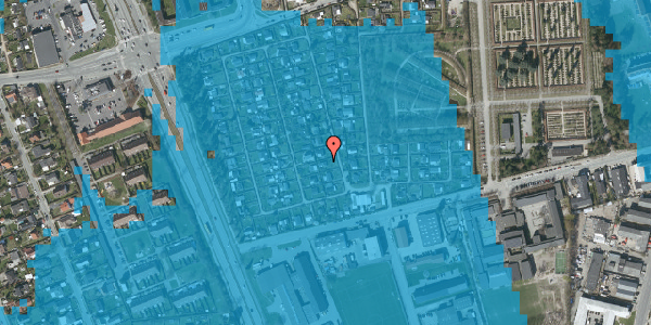 Oversvømmelsesrisiko fra vandløb på Hf. Svarø 72, 2650 Hvidovre