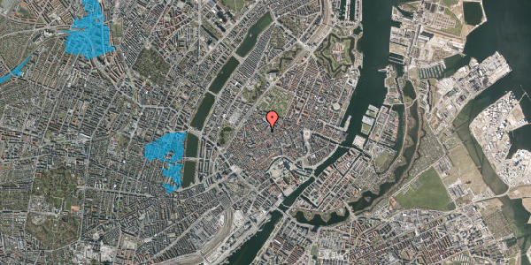 Oversvømmelsesrisiko fra vandløb på Skindergade 2C, 2. , 1159 København K