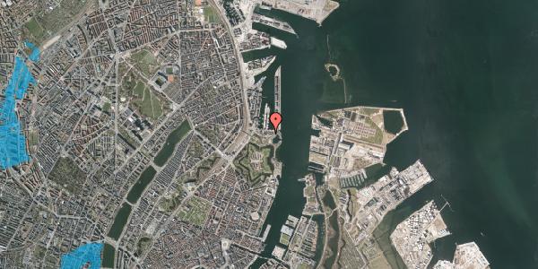 Oversvømmelsesrisiko fra vandløb på Indiakaj 14B, 2. tv, 2100 København Ø