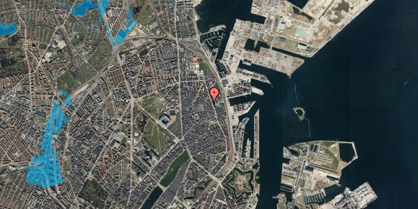 Oversvømmelsesrisiko fra vandløb på Vejlegade 10, kl. 6, 2100 København Ø