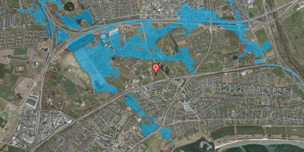Oversvømmelsesrisiko fra vandløb på Idræts Alle 16, 2625 Vallensbæk