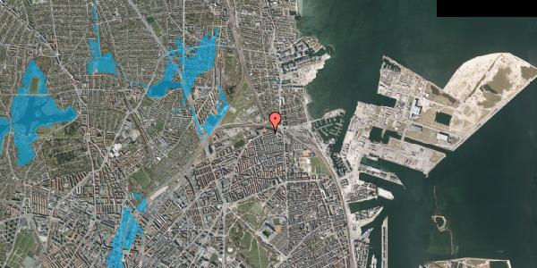 Oversvømmelsesrisiko fra vandløb på Edvard Griegs Gade 14B, 2100 København Ø