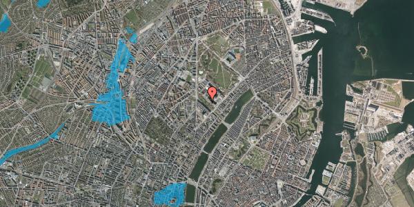 Oversvømmelsesrisiko fra vandløb på Juliane Maries Vej 7, 2100 København Ø
