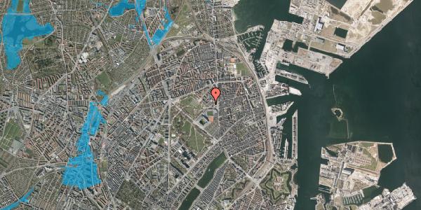 Oversvømmelsesrisiko fra vandløb på Serridslevvej 2C, kl. 1, 2100 København Ø