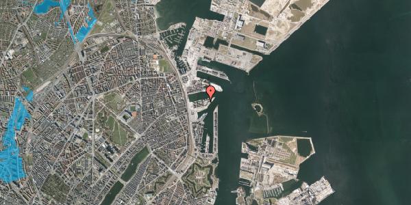 Oversvømmelsesrisiko fra vandløb på Marmorvej 51, 3. , 2100 København Ø