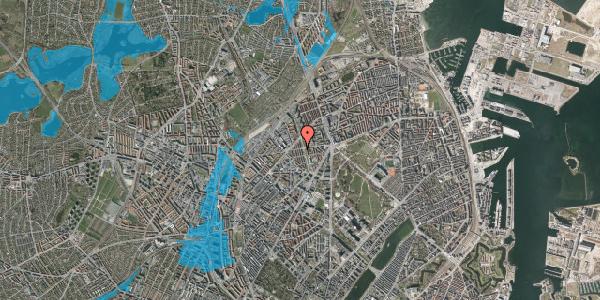 Oversvømmelsesrisiko fra vandløb på Aldersrogade 17, st. 2, 2100 København Ø
