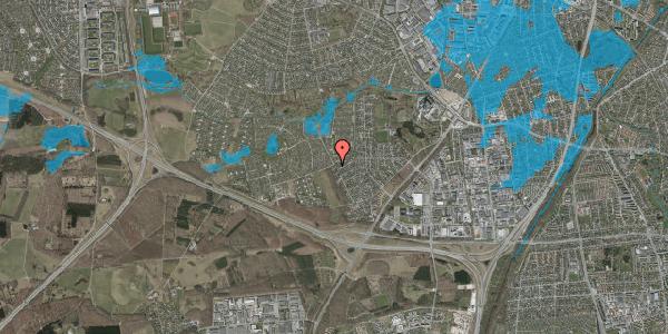 Oversvømmelsesrisiko fra vandløb på Bjergbakkevej 51A, 2600 Glostrup