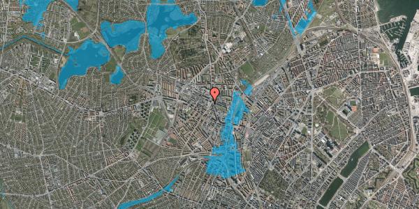 Oversvømmelsesrisiko fra vandløb på Glasvej 27, 3. th, 2400 København NV