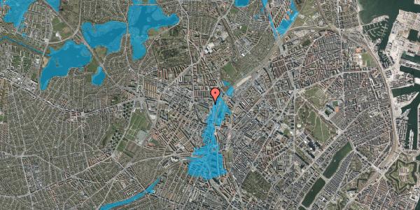 Oversvømmelsesrisiko fra vandløb på Bygmestervej 55, 1. , 2400 København NV
