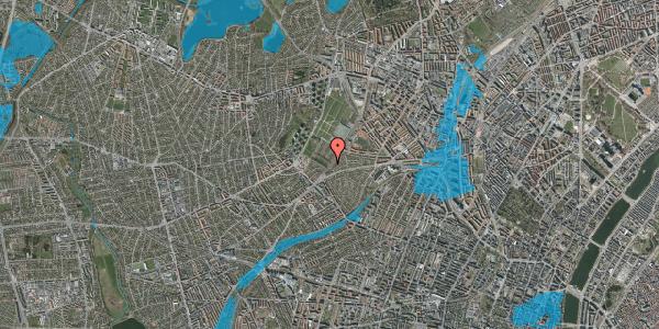 Oversvømmelsesrisiko fra vandløb på Rødkilde Plads 1, 2400 København NV