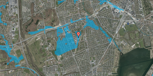 Oversvømmelsesrisiko fra vandløb på Arnold Nielsens Boulevard 62C, 2650 Hvidovre