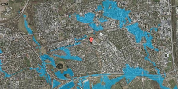 Oversvømmelsesrisiko fra vandløb på Grønkløvervænget 18, 2625 Vallensbæk