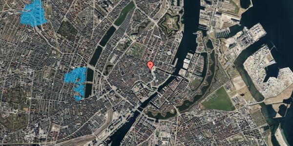 Oversvømmelsesrisiko fra vandløb på Bremerholm 1, st. th, 1069 København K