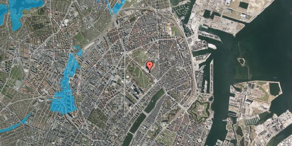 Oversvømmelsesrisiko fra vandløb på Øster Allé 29, st. , 2100 København Ø