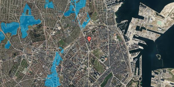 Oversvømmelsesrisiko fra vandløb på Lyngbyvej 34, st. , 2100 København Ø